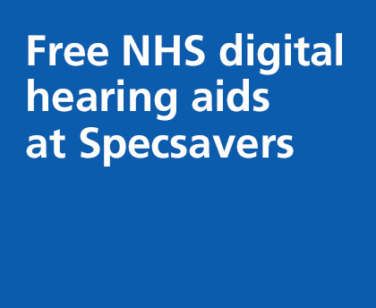 Free NHS digital hearing aids at Specsavers
