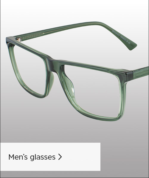 Photo of mens rounded glasses, in a grey metal.