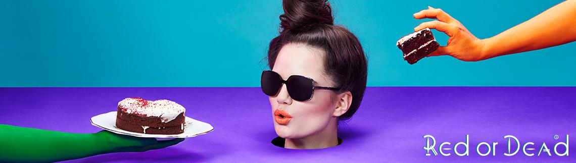 Red or Dead designer glasses
