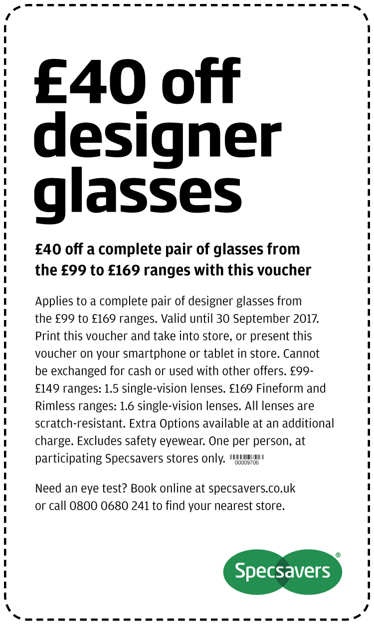 £40 off designer glasses - North West