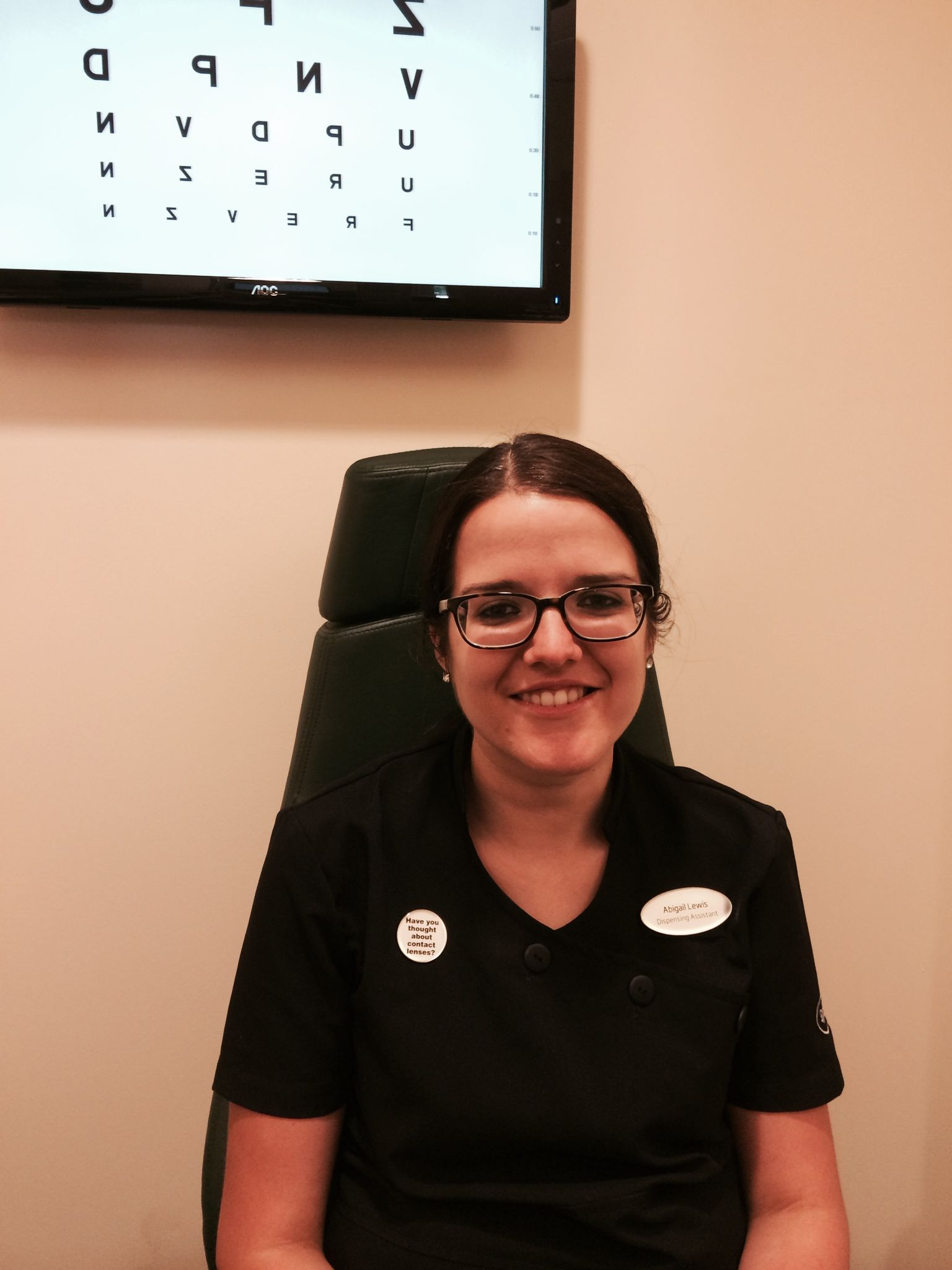 Abigail Lawis, Optical Assistant Certificate 4 Qualified at Specsavers Minehead