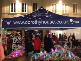 Julie Burrage, store manager takes part in Bath Midnight Walk for Dorothy House Hospice