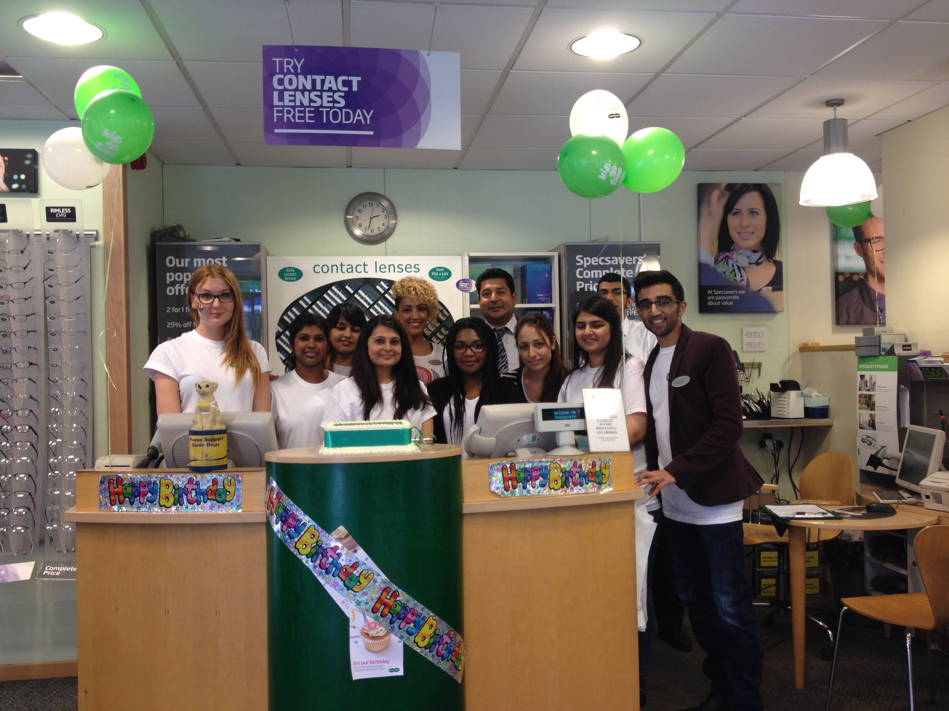 The Bethnal Green Specsavers team
