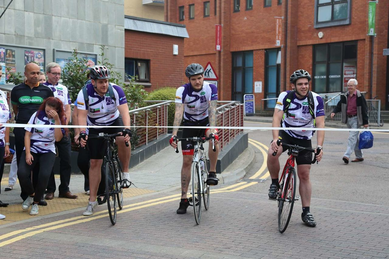 Specsavers Camberley team cycled 200 miles and cross the finish line