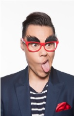Shoppers in Sutton in Ashfield can pull a funny face like Gok in the photobooth available!
