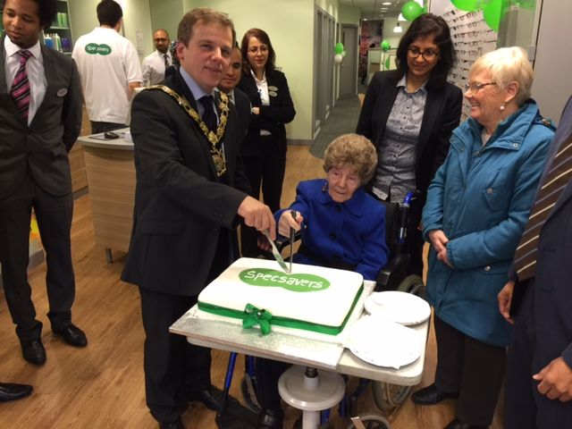 The Mayor of Camden at Specsavers Camden