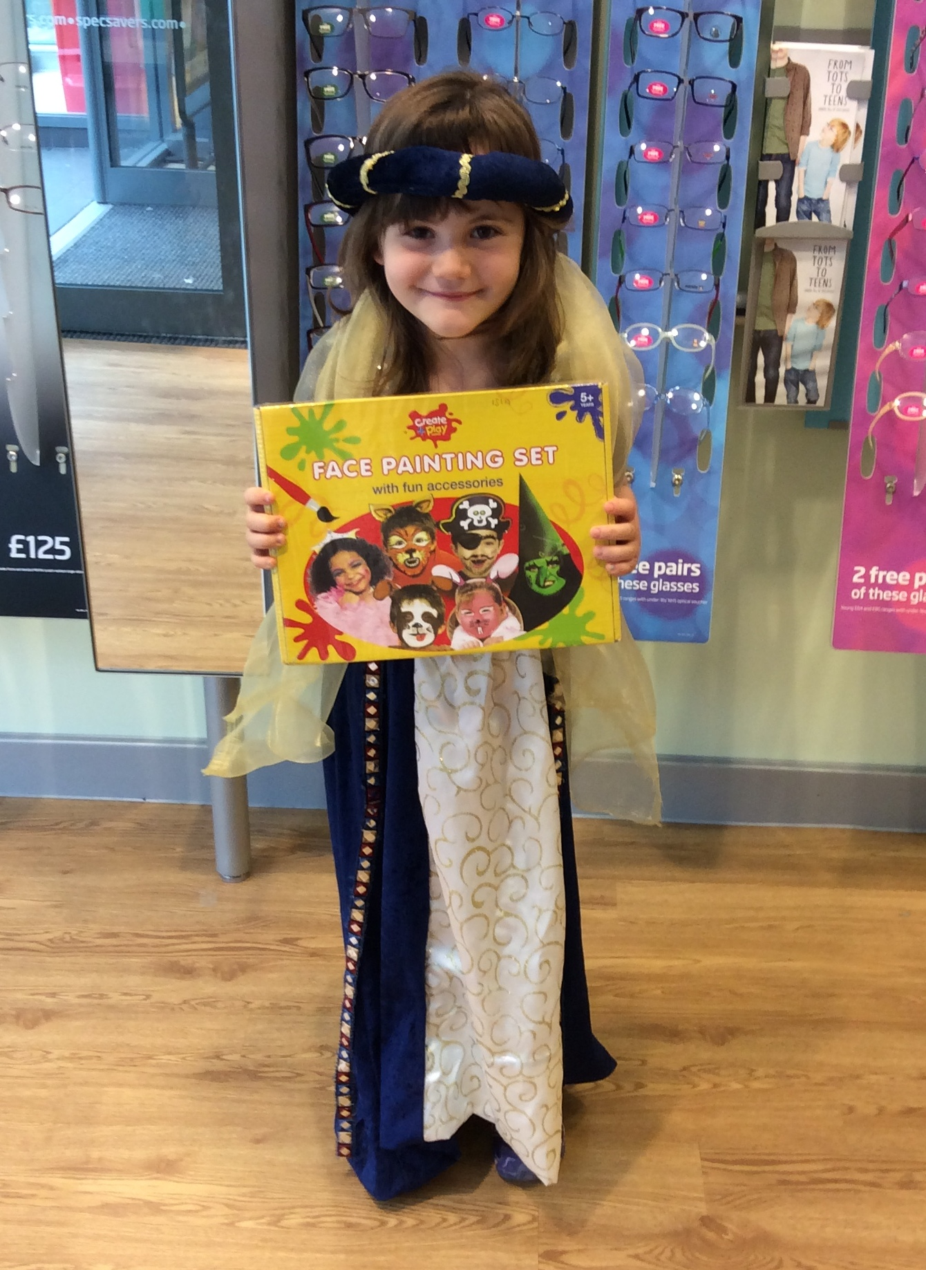 Isla Hurst, aged just six, was joint winner of the best costume competition
