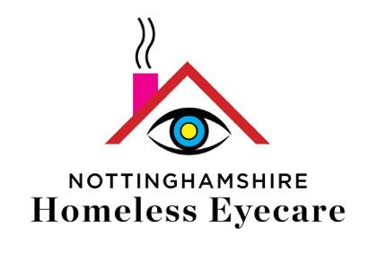 The chosen design for the Nottinghamshire Homeless eyecare logo
