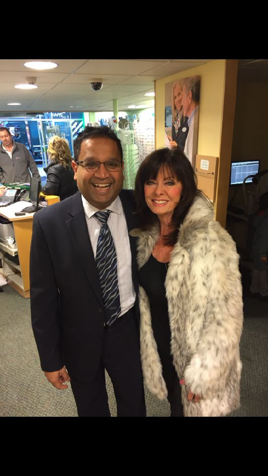 The team at Specsavers in Loughton with Vicki Michelle from I'm a celebrity