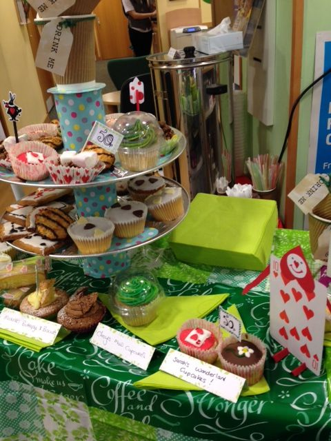 Cakes from Specsavers in Sittingbourne's Macmillan Coffee Morning