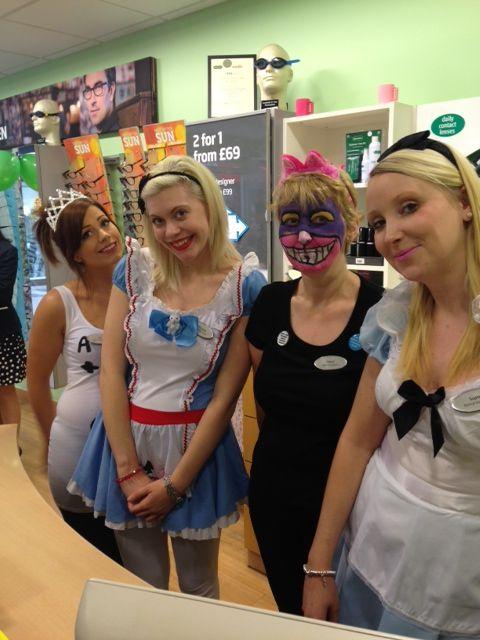 Alice in Wonderland at Specsavers in Sittingbourne