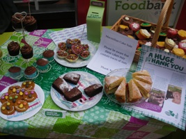 A selection of cakes that were served up by the Sutton in Ashfield Specsavers store for Macmillan Coffee Morning