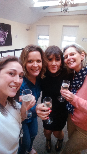 From left to right: Eleni Neocleous, Amy Sims, Kelly Mcbride, the event organisers and Judith Hirst who took charge of the auction.