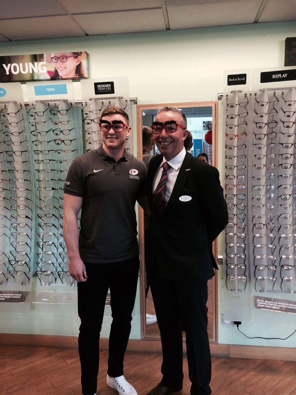 Store director of St Albans, Lewis Carroll and Saracens rugby player Chris Ashton