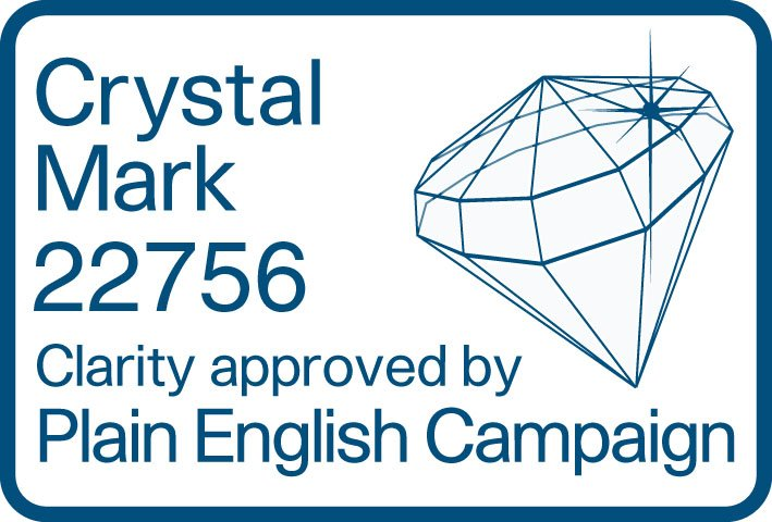 Plain English Campaign - Crystal Mark 22756