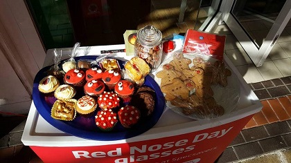 Scunthorpe held a cake sale for charity