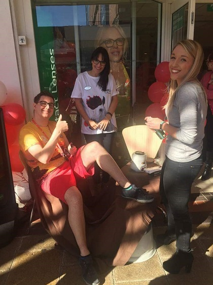 Mikey Corbett bravely received a full leg wax for charity