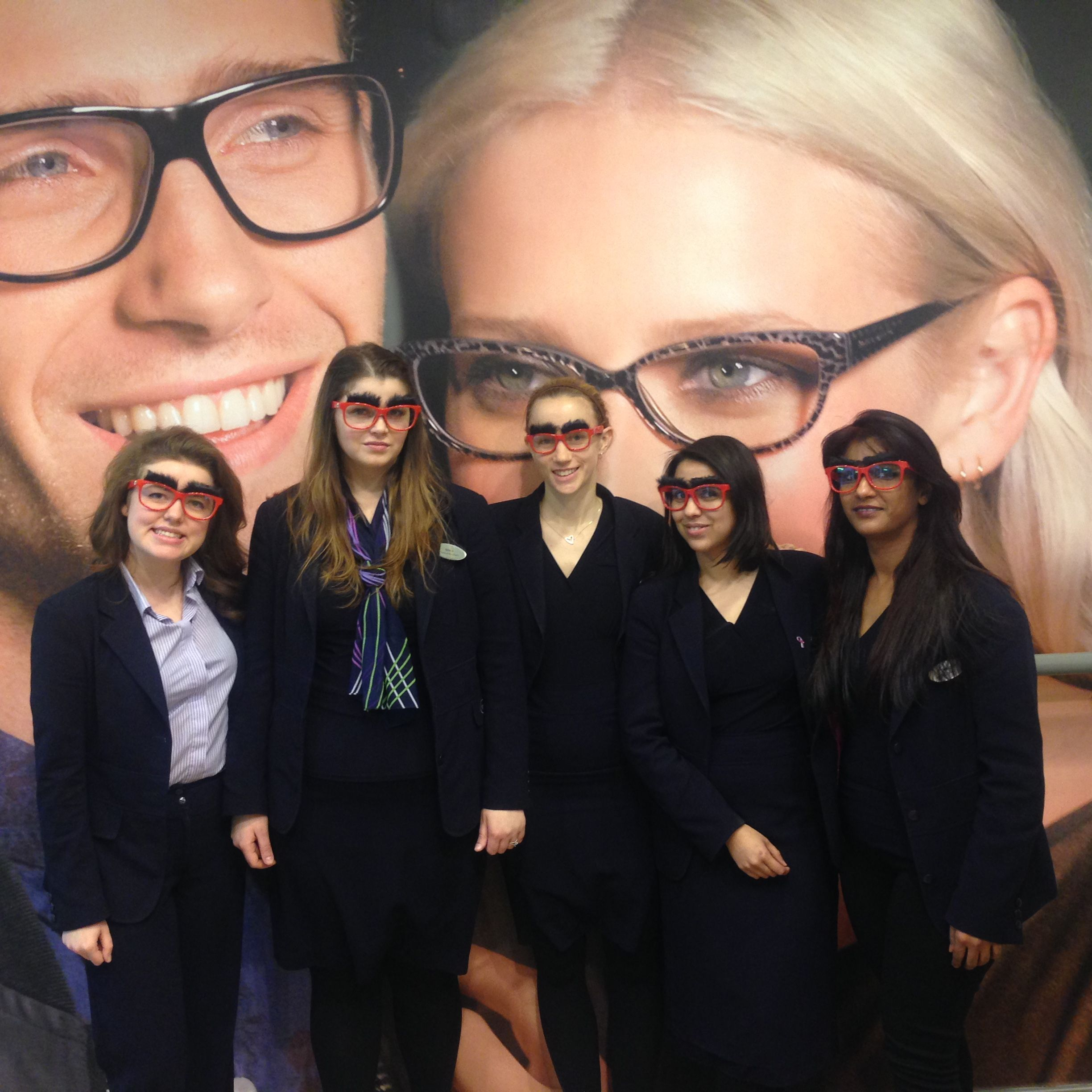 Specsavers London Wall getting in the fundraising spirit