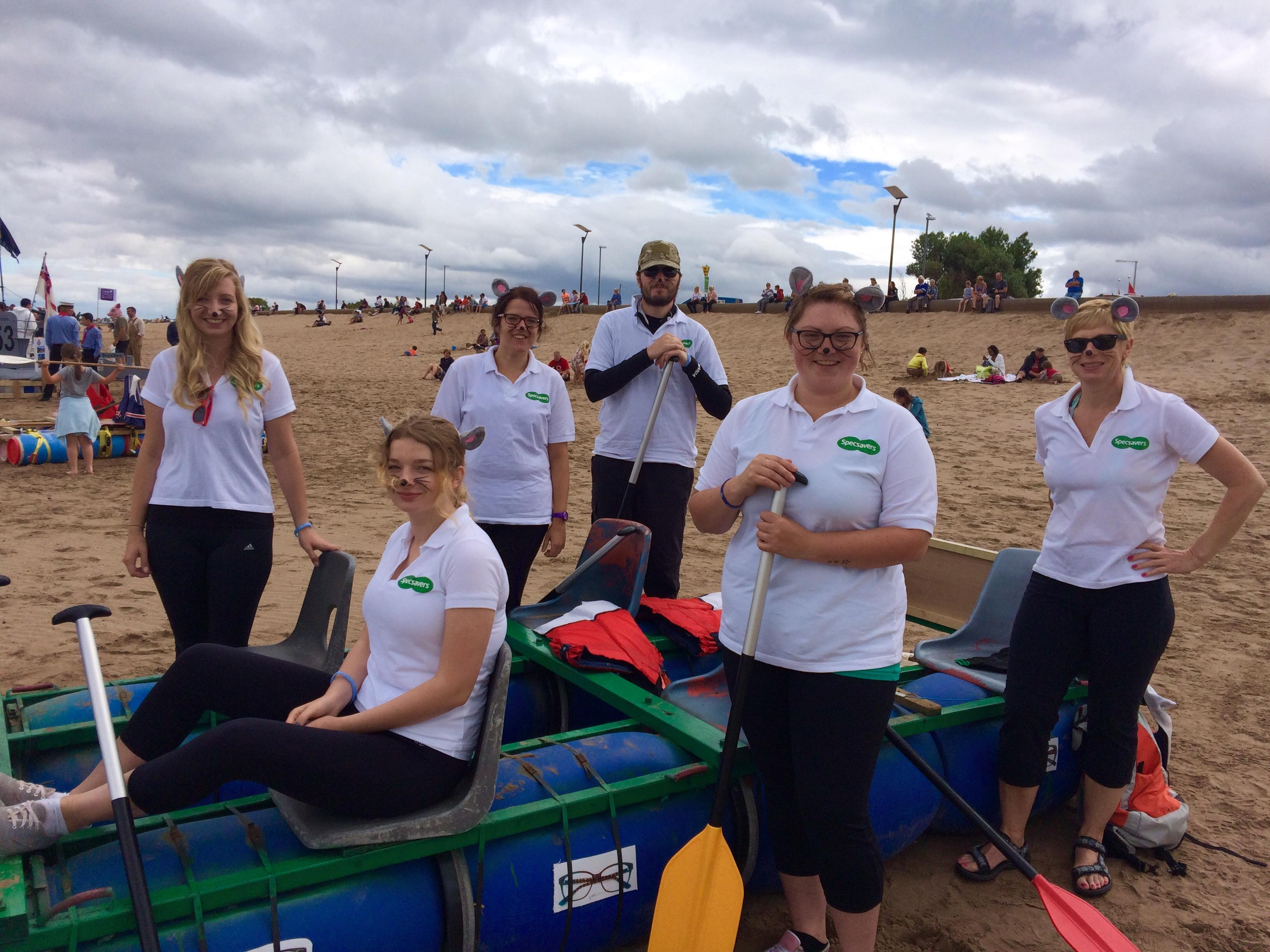 Specsavers Minehead entered the RNLI raft race to raise money for the charity