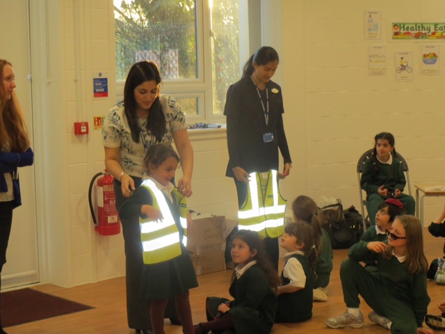 Rimon Jewish Primary School with their donated high-visibility jackets from Specsavers Golders Green