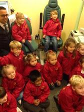 Children from Grantham Preparatory School visited Specsavers Grantham