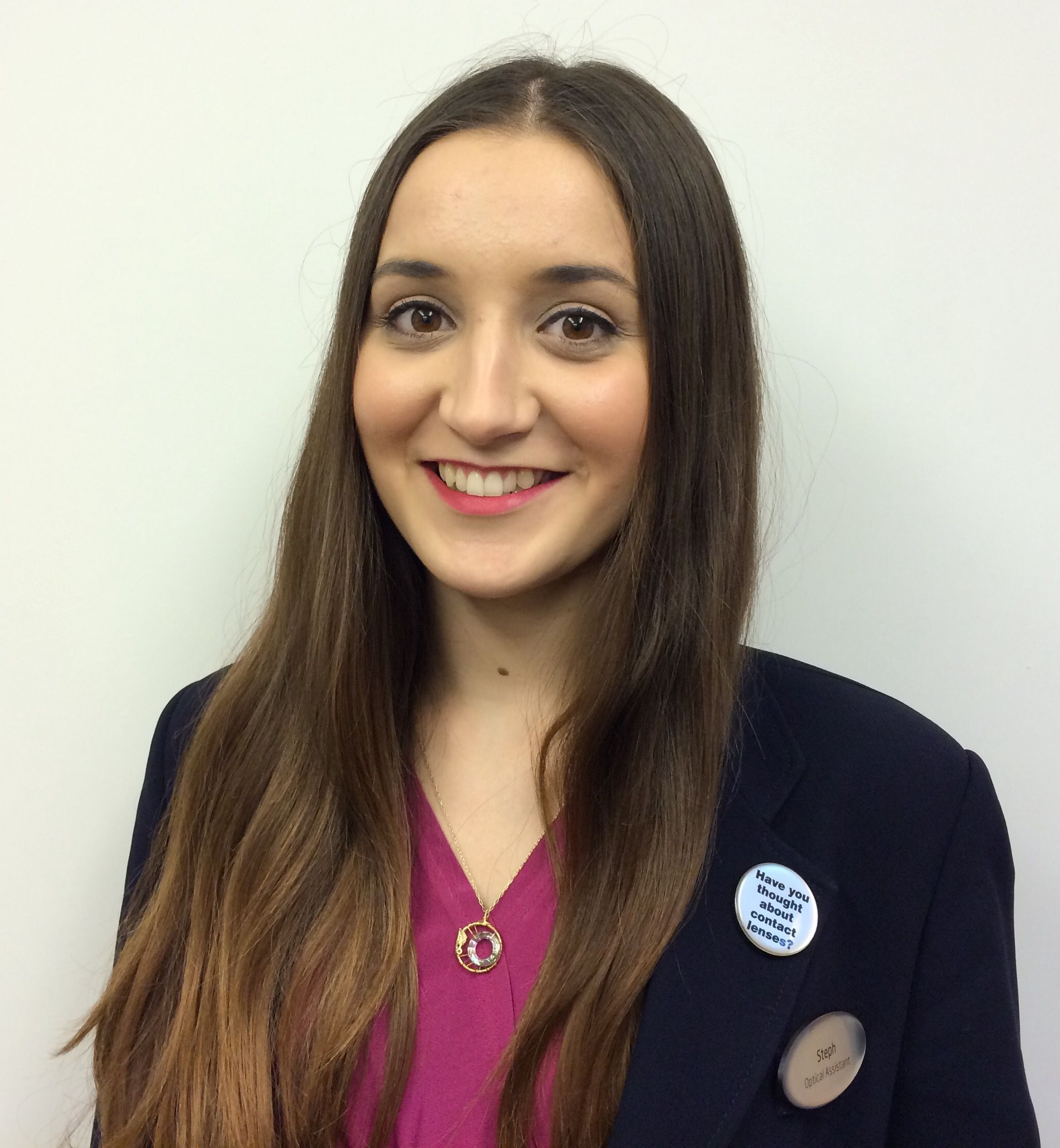 Stephanie Karagiannidis, optical and contact lens assistant at Specsavers Worthing