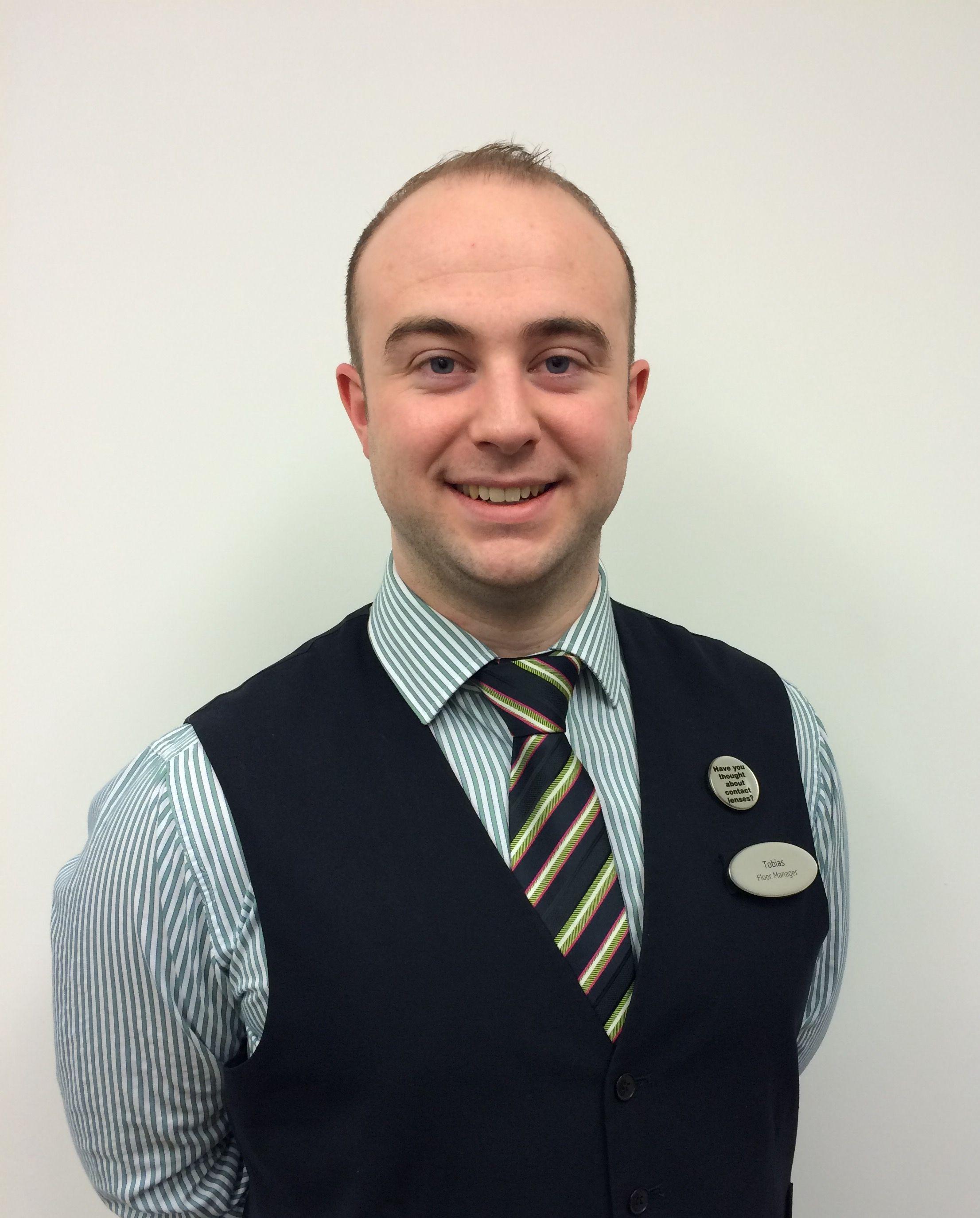Tobias Craig-Brown, floor manager/dispensing optician at Specsavers Worthing