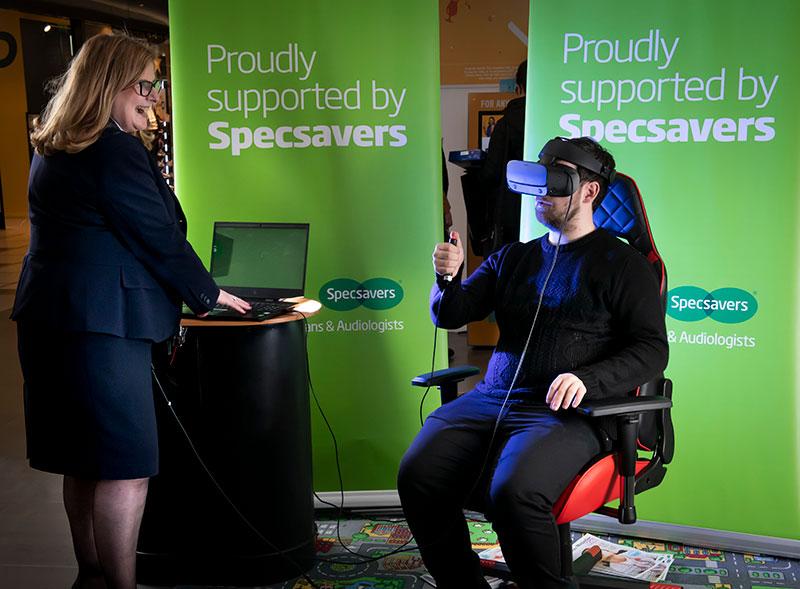 Virtual reality glaucoma demo