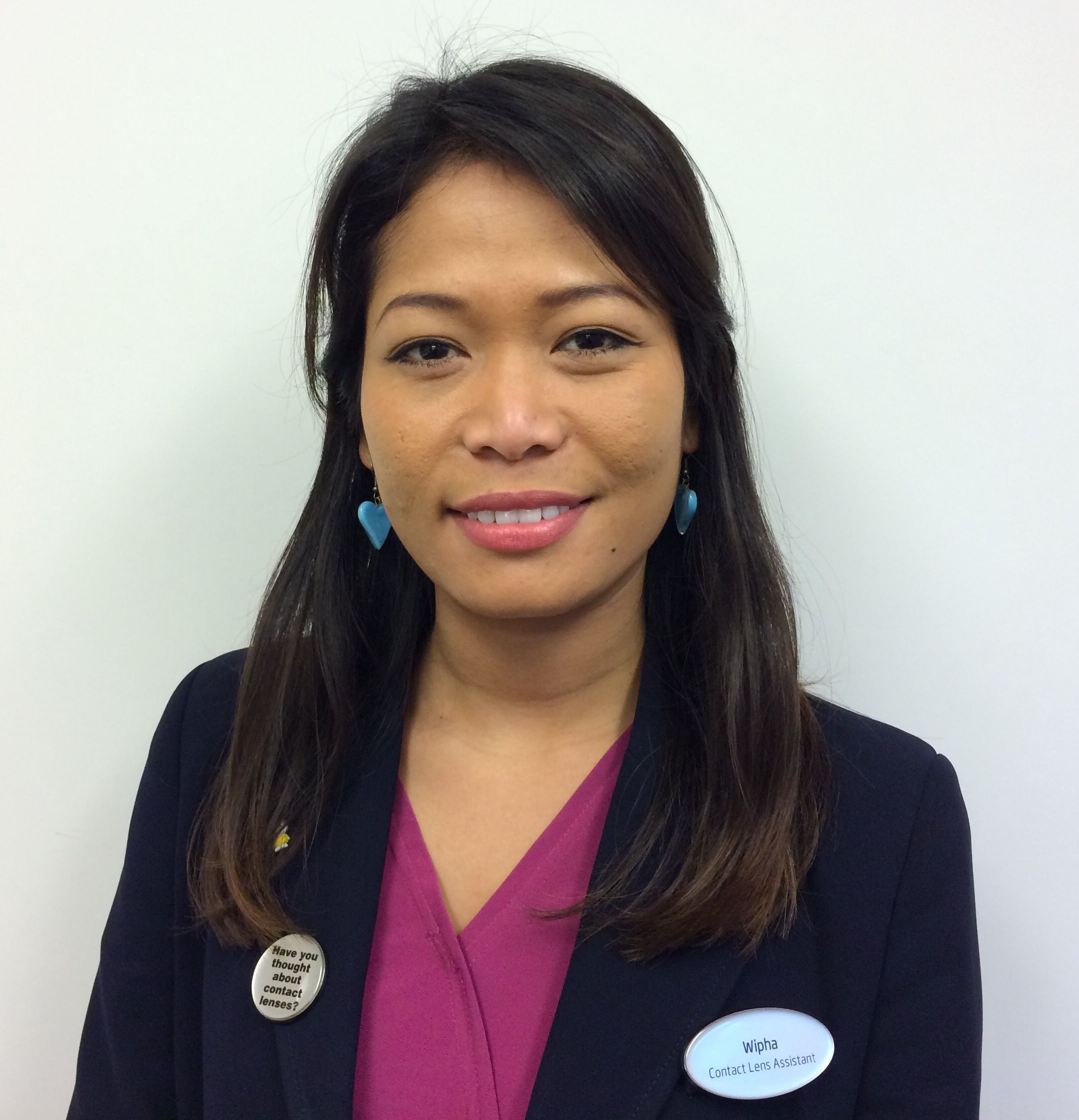Wipha Stothart, contact lens assistant at Specsavers Worthing