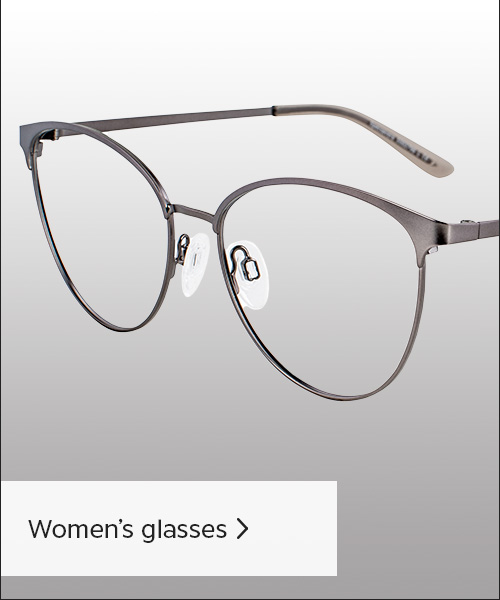 Photo of womens rounded glasses, in a grey metal.